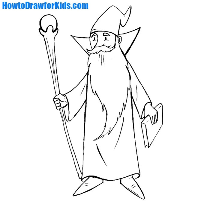 How To Draw A Wizard For Kids