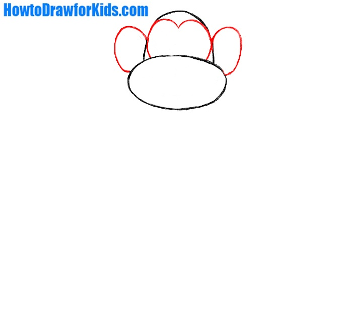 how to draw a monkey for kids step by step