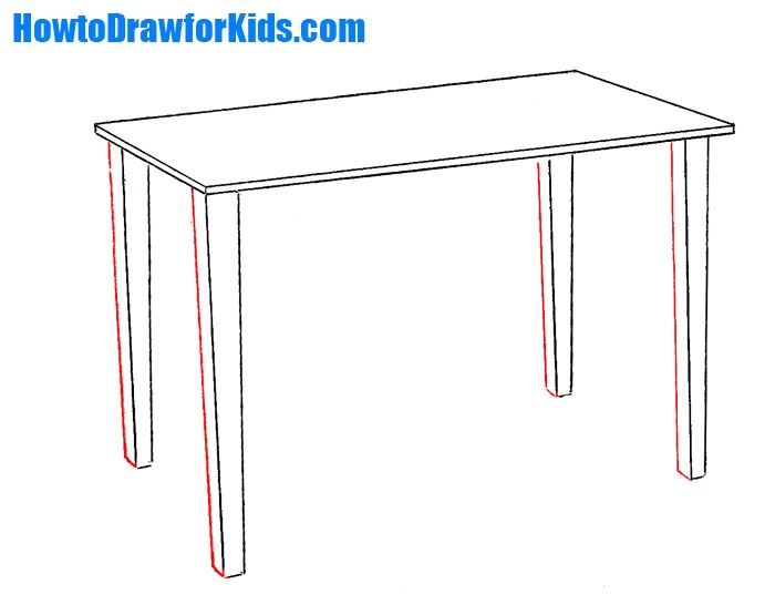 How to Draw a Table for Kids | How to Draw for Kids