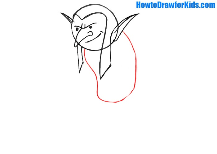 How to draw a goblin easy