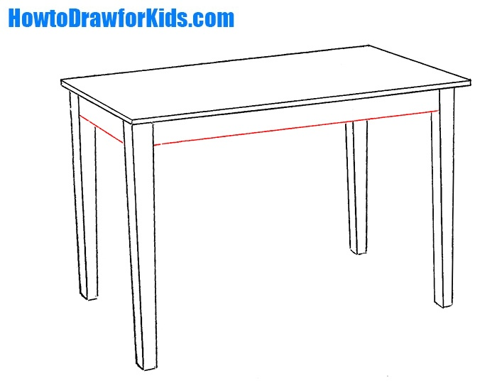 how to draw a table for kids