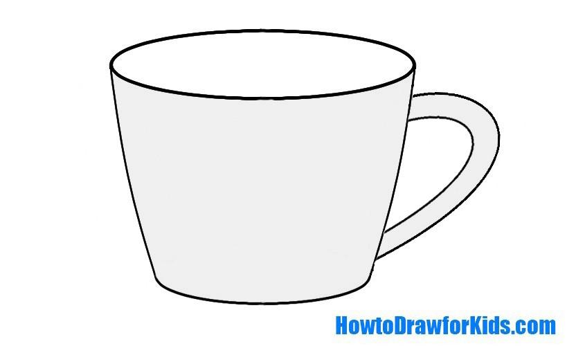 Шаблоны чашки для раскрашивания