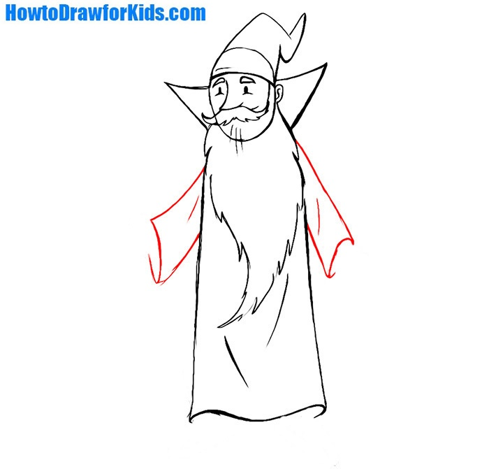how to draw a wizard for beginners