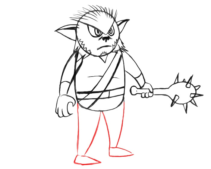 learn to draw a bugbear for easy