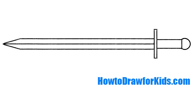 sword drawing for kids