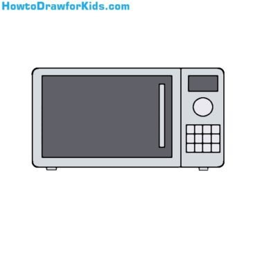 How to Draw a Microwave for Kids
