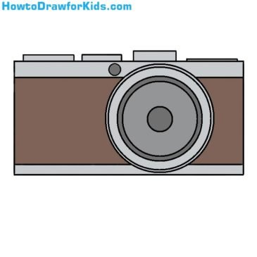 How to Draw a Camera Easy
