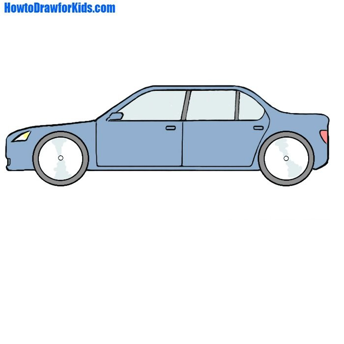 How To Draw A Car For Kids How To Draw For Kids