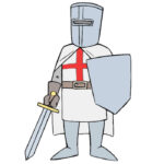 How to Draw a Crusader for Kids