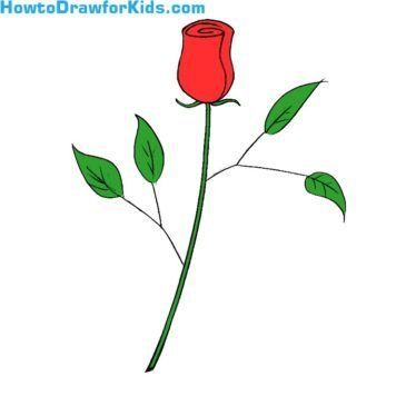 How to Draw a Rose for Kids