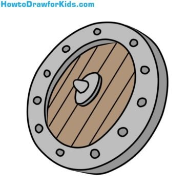 How to Draw a Shield for Kids
