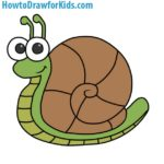 How to Draw a Snail for Kids