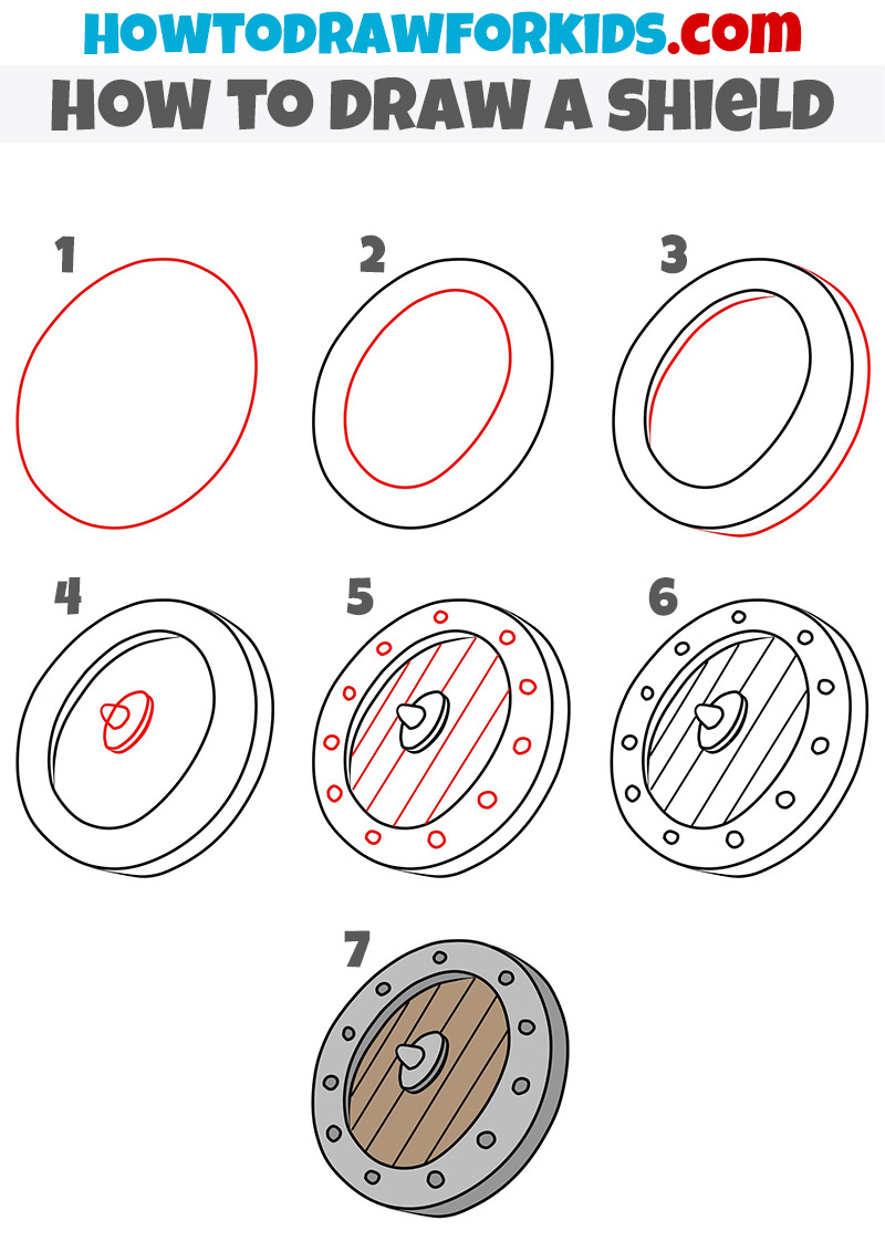 how to draw a shield