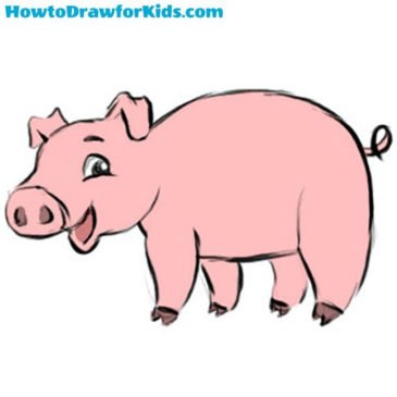 How to Draw a Pig for Kids