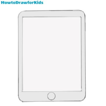 How to Draw an iPad for Kids