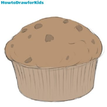 How to Draw a Muffin for Kids