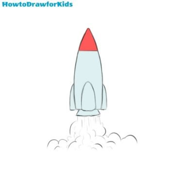 How to Draw a Rocket for Kids