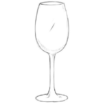 How to Draw a Wine Glass Easy