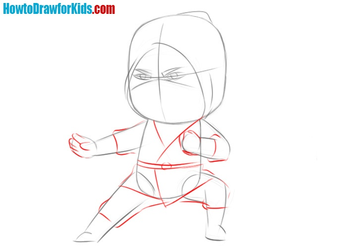How to draw a ninja very easy