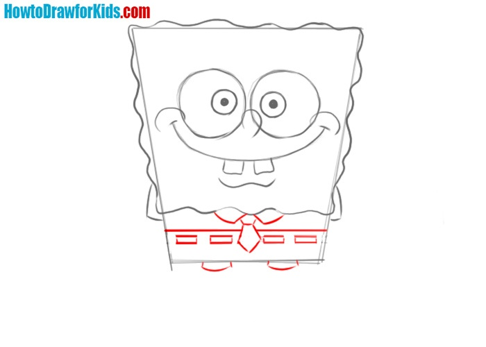 How to draw Spongebob Squarepants easy