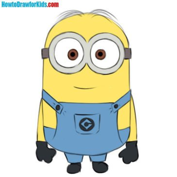 How to Draw a Minion For Kids