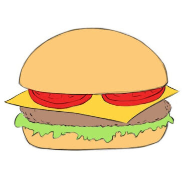 How to Draw a Burger for Kids