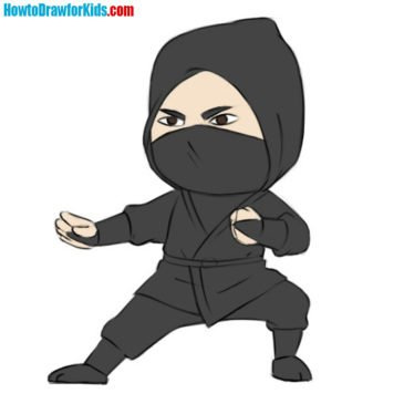 How to Draw a Ninja For Kids