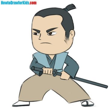 How to Draw a Samurai for Kids