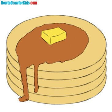 How to Draw Pancakes for Kids