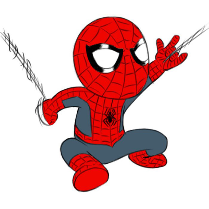 How To Draw Spider Man For Kids