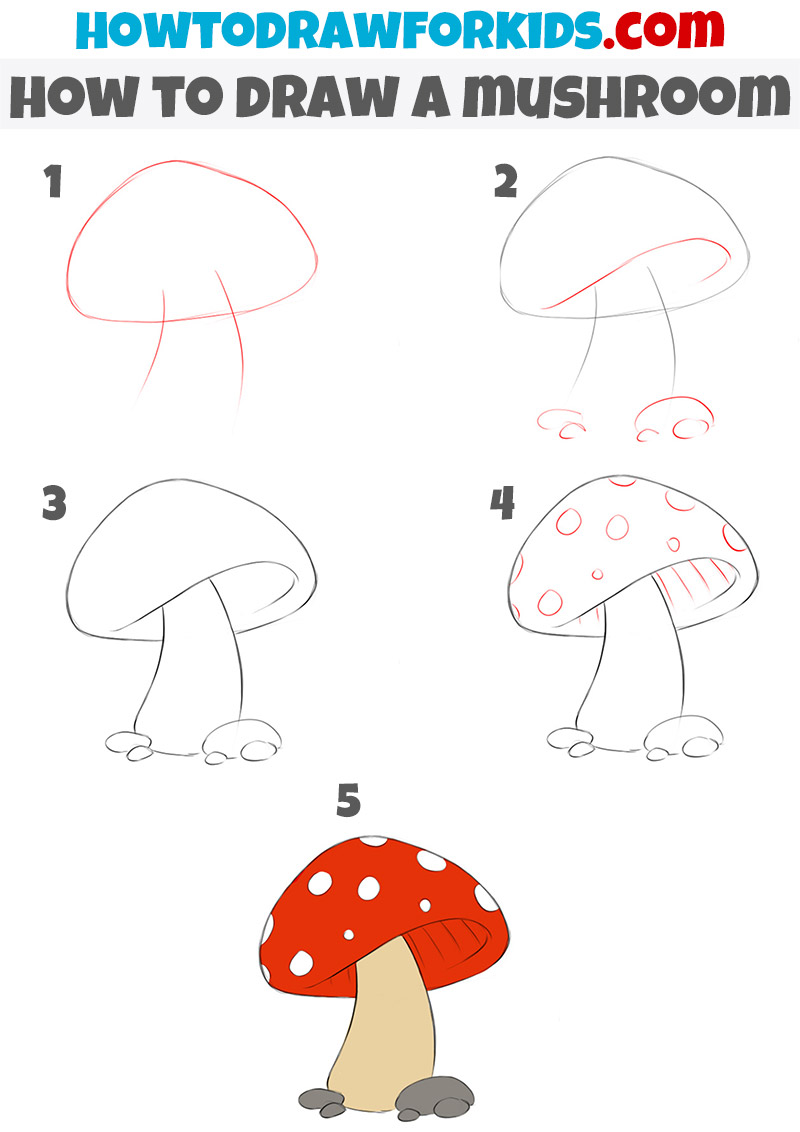 Gallery How to draw a mushroom for kids is free HD wallpaper.