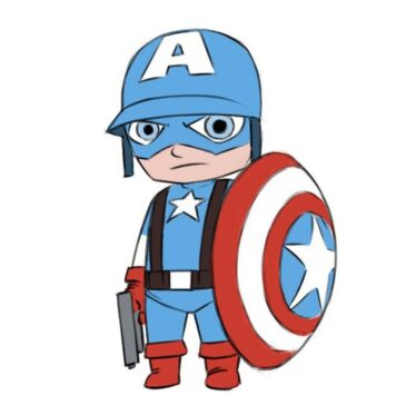 How to Draw Captain America for Beginners