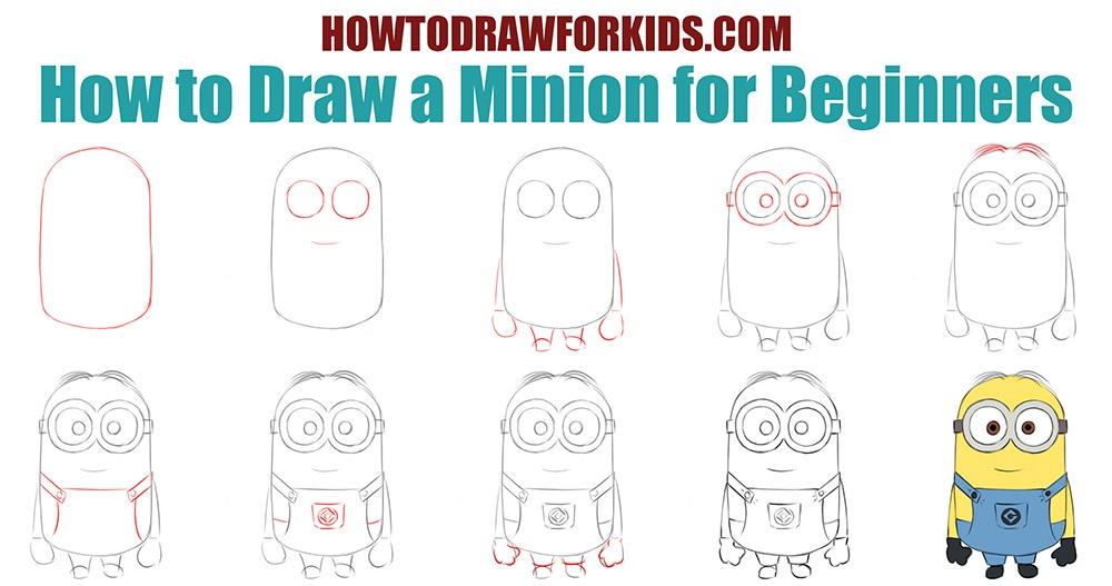 How to draw a Minion for beginners easy