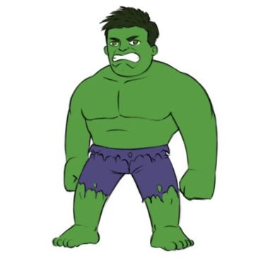 How to Draw Hulk for Kids