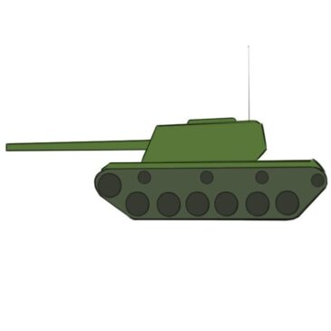 How to Draw a Tank Easy for Kids
