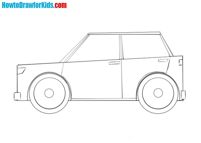 how to draw a easy car