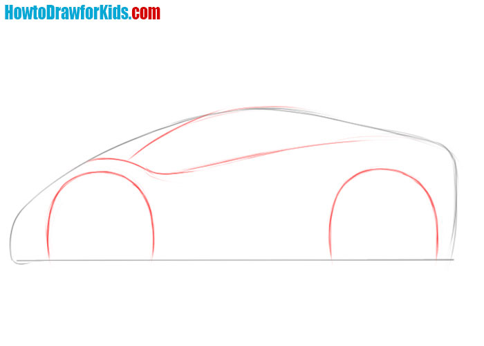 how to draw a car very easy