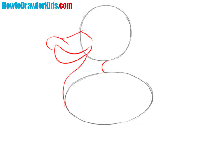 how to draw a duck for kids
