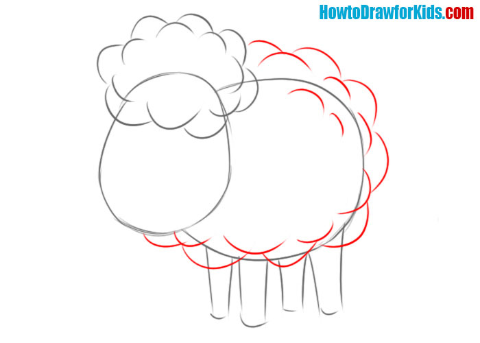 how to draw a sheep for beginners