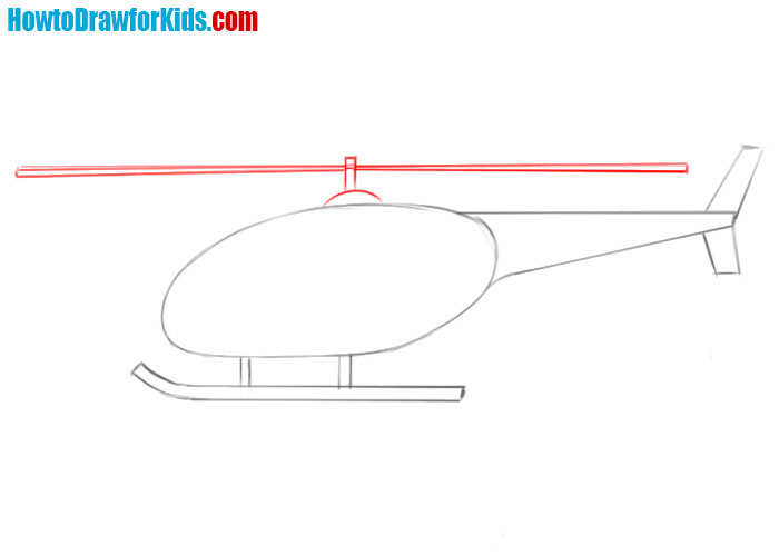 how to sketch a Helicopter