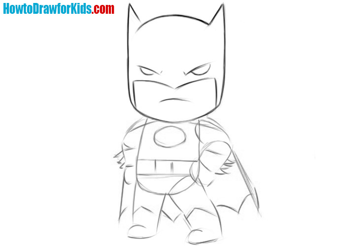 How to draw Batman easy for kids