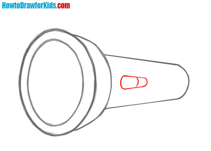 How to draw a Flashlight for kids