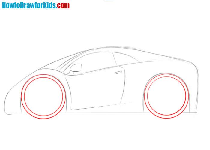 car drawing guide