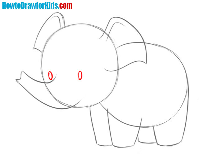 how to draw a baby elephant