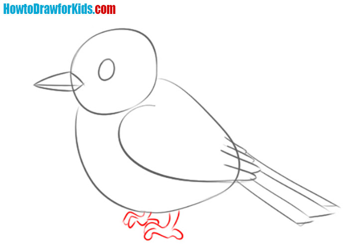 how to draw a sparrow easy
