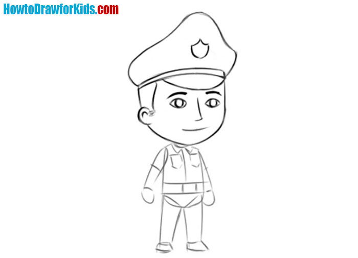 Police Officer drawing tutorial