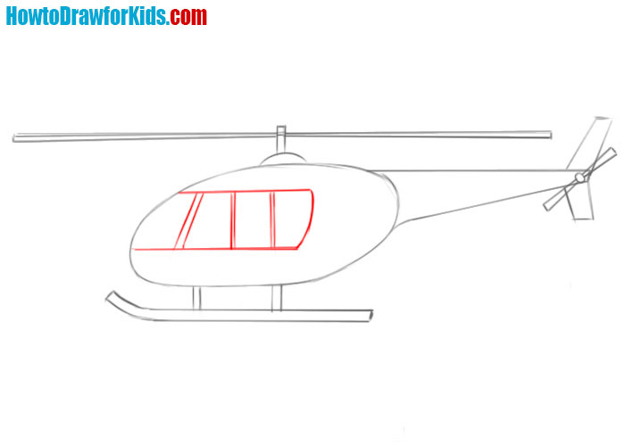 how easy to draw a Helicopter
