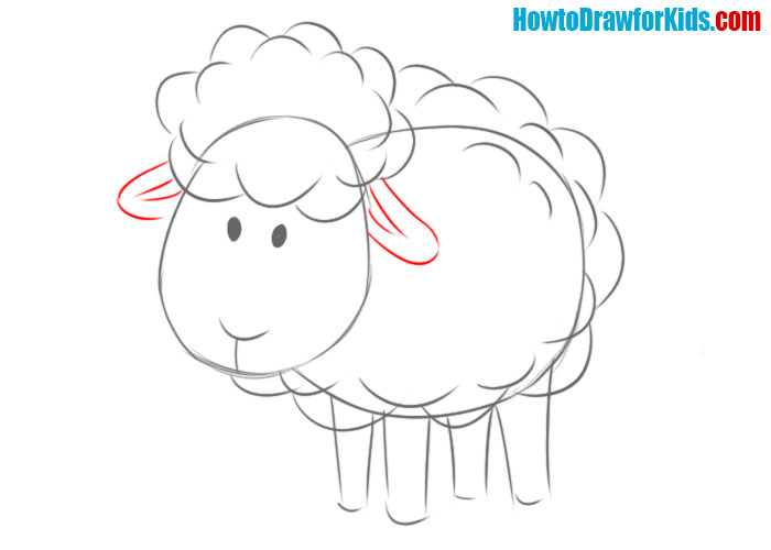how to draw a sheep easy