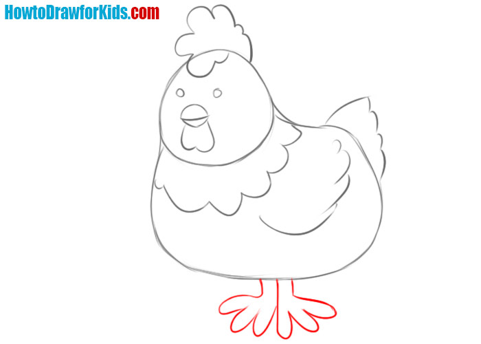how to draw an easy chicken