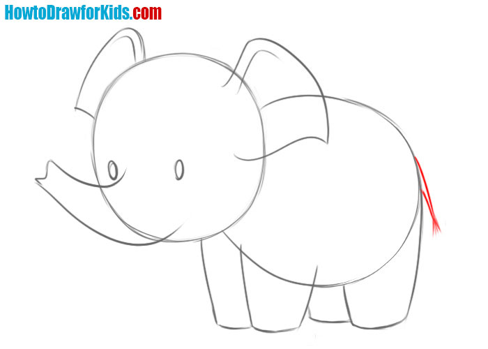 how to draw an elephant baby